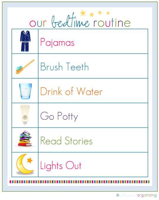 preschool bedtime routine chart bedtime routine chart on schedule chart 961