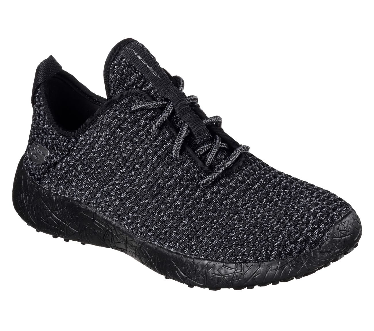 dda8ff59b3da The sweet spot where comfort and style combine in the SKECHERS Burst - City  Scene shoe. Soft woven sporty knit fabric upper in a lace up casual sneaker  with ...
