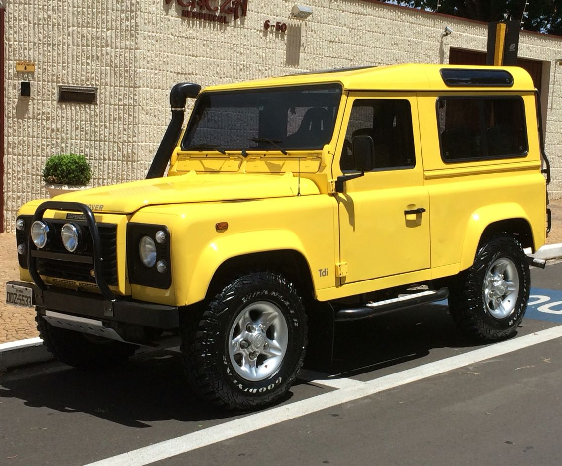Yellow Defender 90 Land Rover Defender Range Rover Off Road