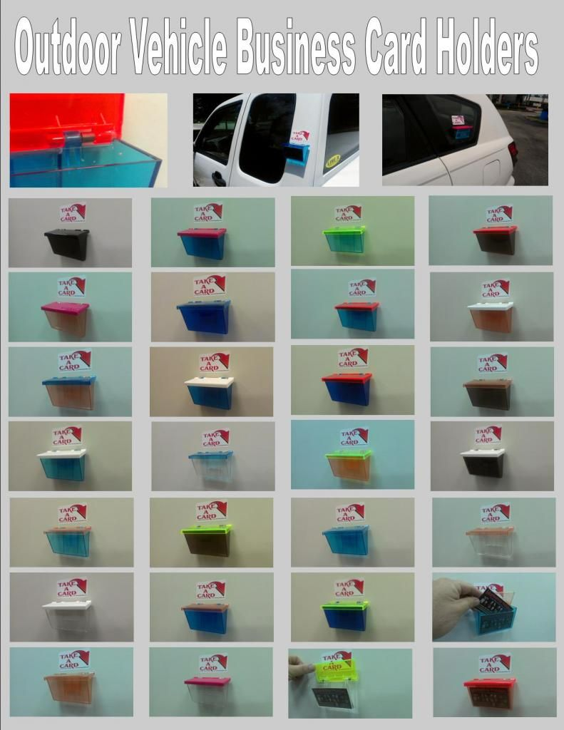 THE CARD BOX Outdoor Vehicle Business Card Holders Marketing ...