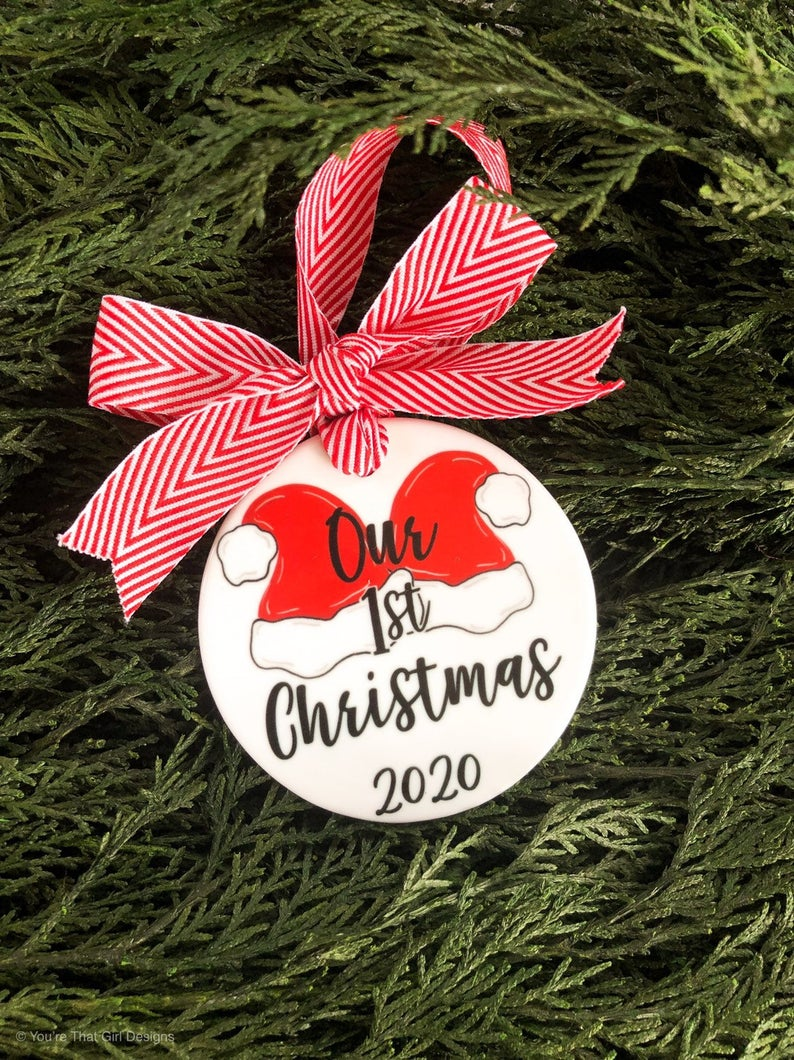 Our First Christmas Ornament Just Married Just Engaged Etsy Our First Christmas Ornament Engagement Christmas Ornament First Christmas Ornament