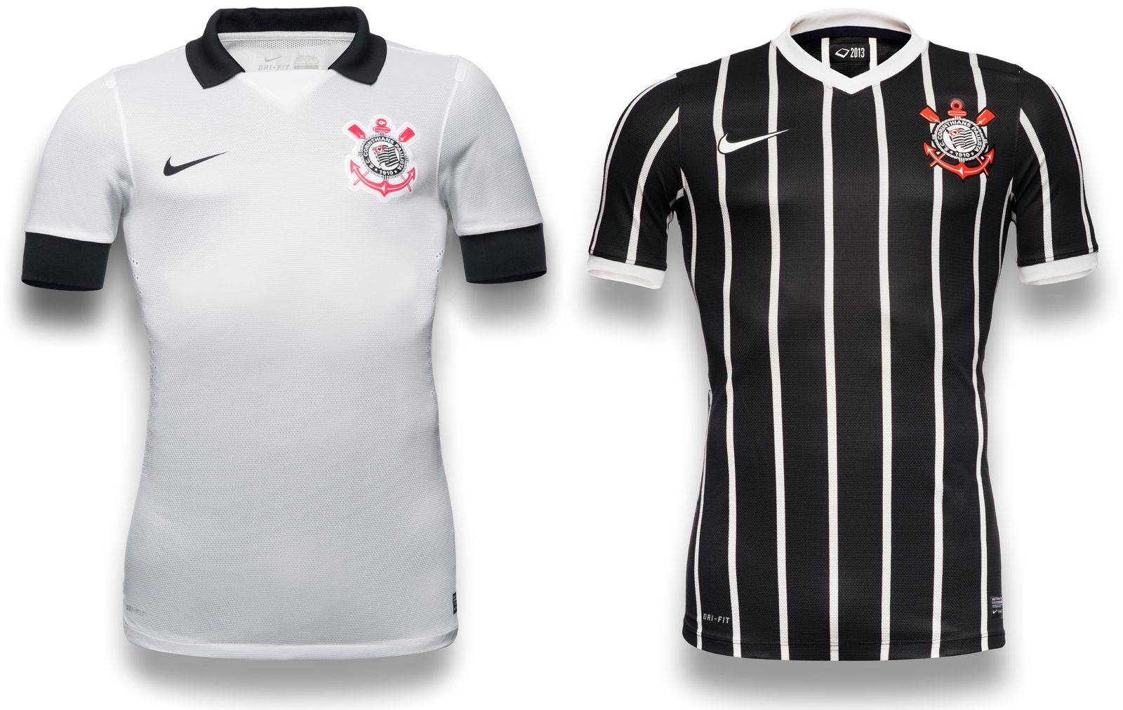 Corinthians 2013 Nike Home Away Kit Jpg 1600 1011