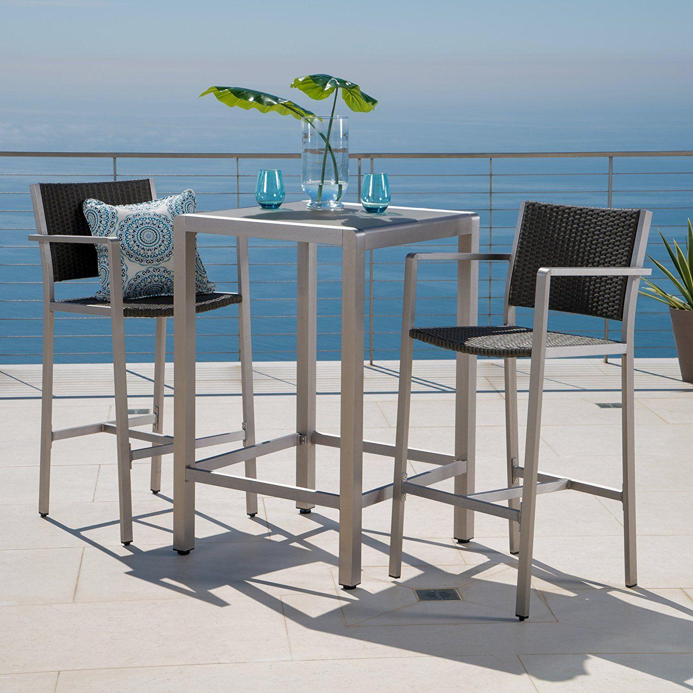 Amazon.com: Crested Bay Patio Furniture ~ 3 Piece Grey Outdoor ...