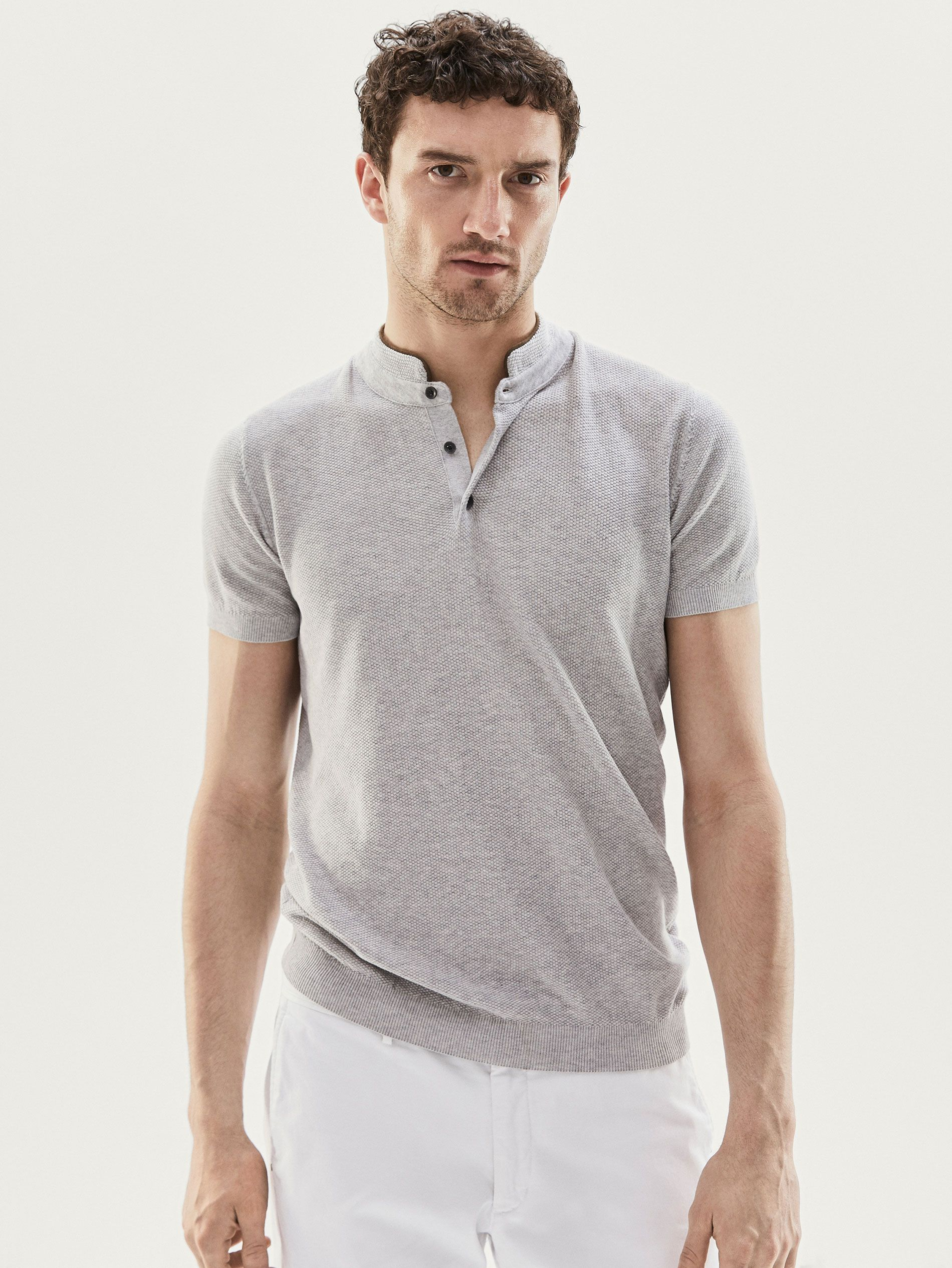 2cdb7c3fd2f Spring Summer 2017 Men´s PULL STYLE POLO MOTIF CONTRASTANT at Massimo Dutti  for 39.95. Effortless elegance!