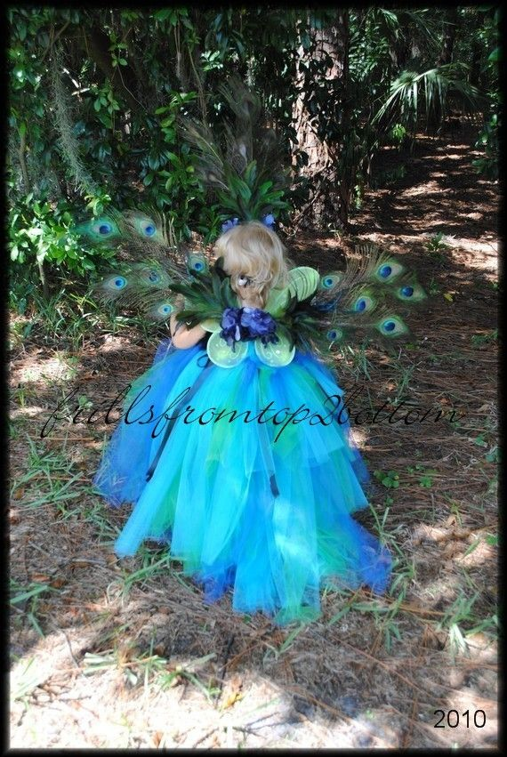 Infant Toddler Pea Tutu Dress And Feather Headband Unique Costume Or Party Attire Sizes Up To 3t 65 00 Via Etsy