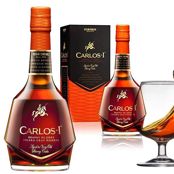 Carlos I Brandy Solera Gran Reserva In 2020 Wine Bottle Whiskey Bottle Wine And Spirits