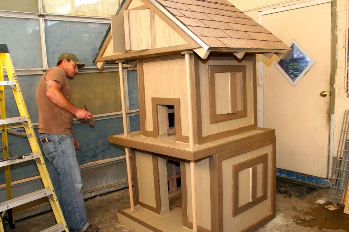 Double Decker Dog House Outside Cat House Dog House Diy