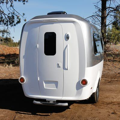 The Rear Door Provides Entry Mini Camper Trailers Pinterest