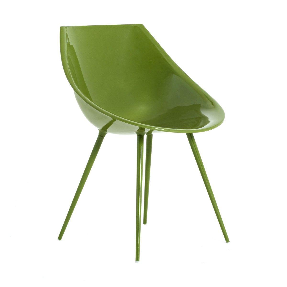 Sedia Lagò verde design di Philippe Starck | DRIADE | Sedie ...