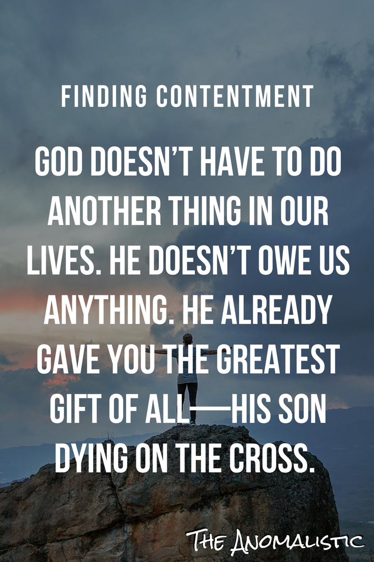 Finding Contentment With Images Inspirational Quotes God