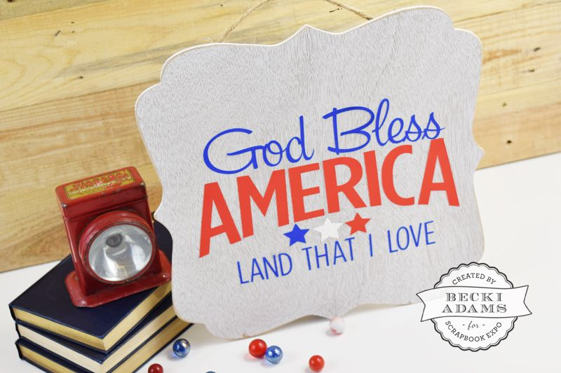 DIY July 4th Home Decor by @jbckadams for @scrapbookexpo using @thermoweb Deco Foil