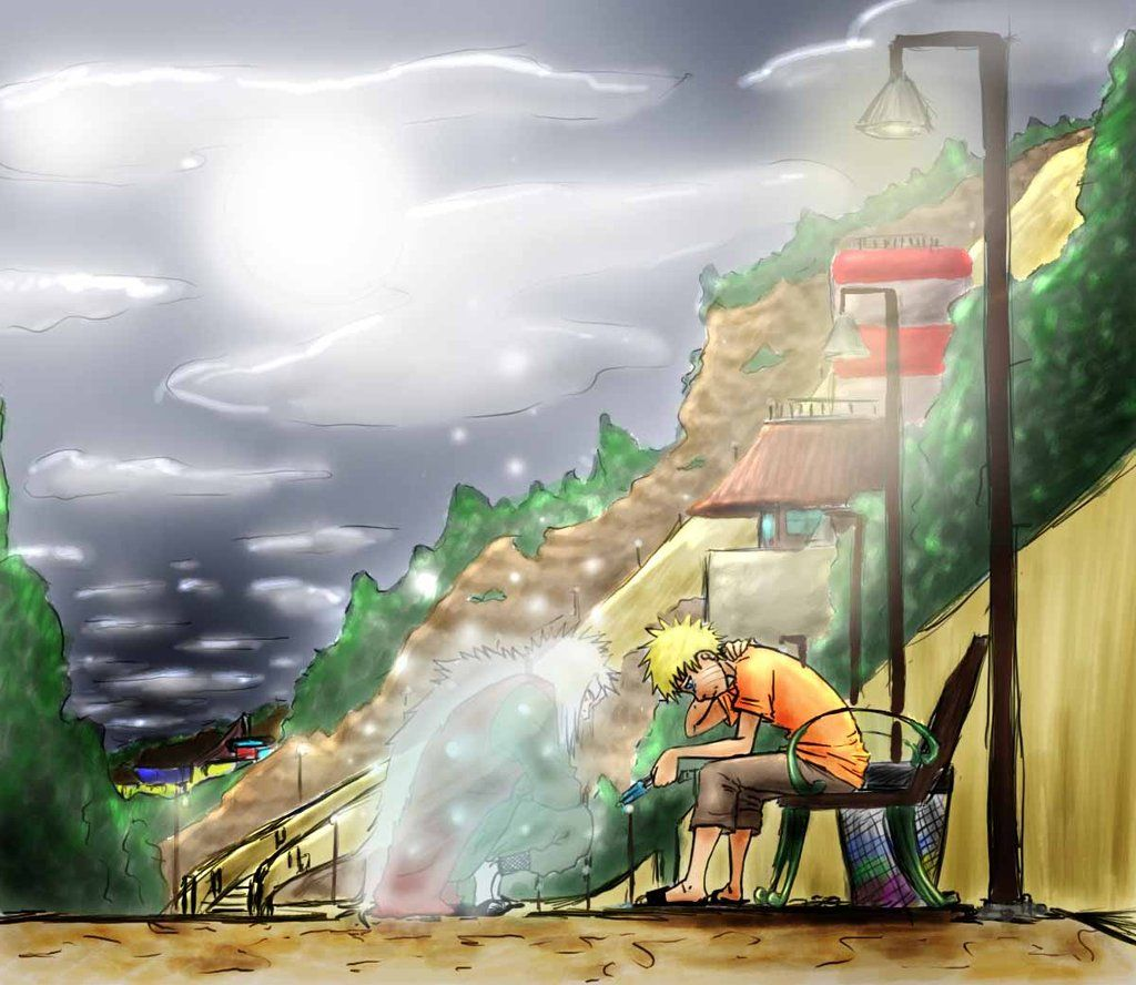 Naruto   Jiraiya's Ghost by Buni-San deviantart com on