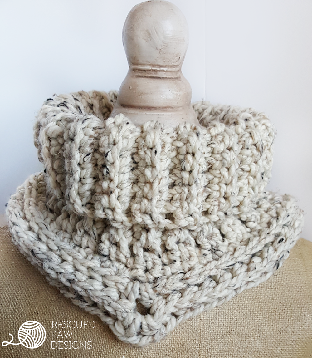 Cara Cowl Crochet Pattern in Spanish - Rescued Paw Designs | Crochet ...