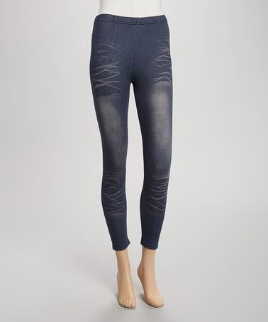Another great find on #zulily! Blue Whiskered Jeggings - Women #zulilyfinds