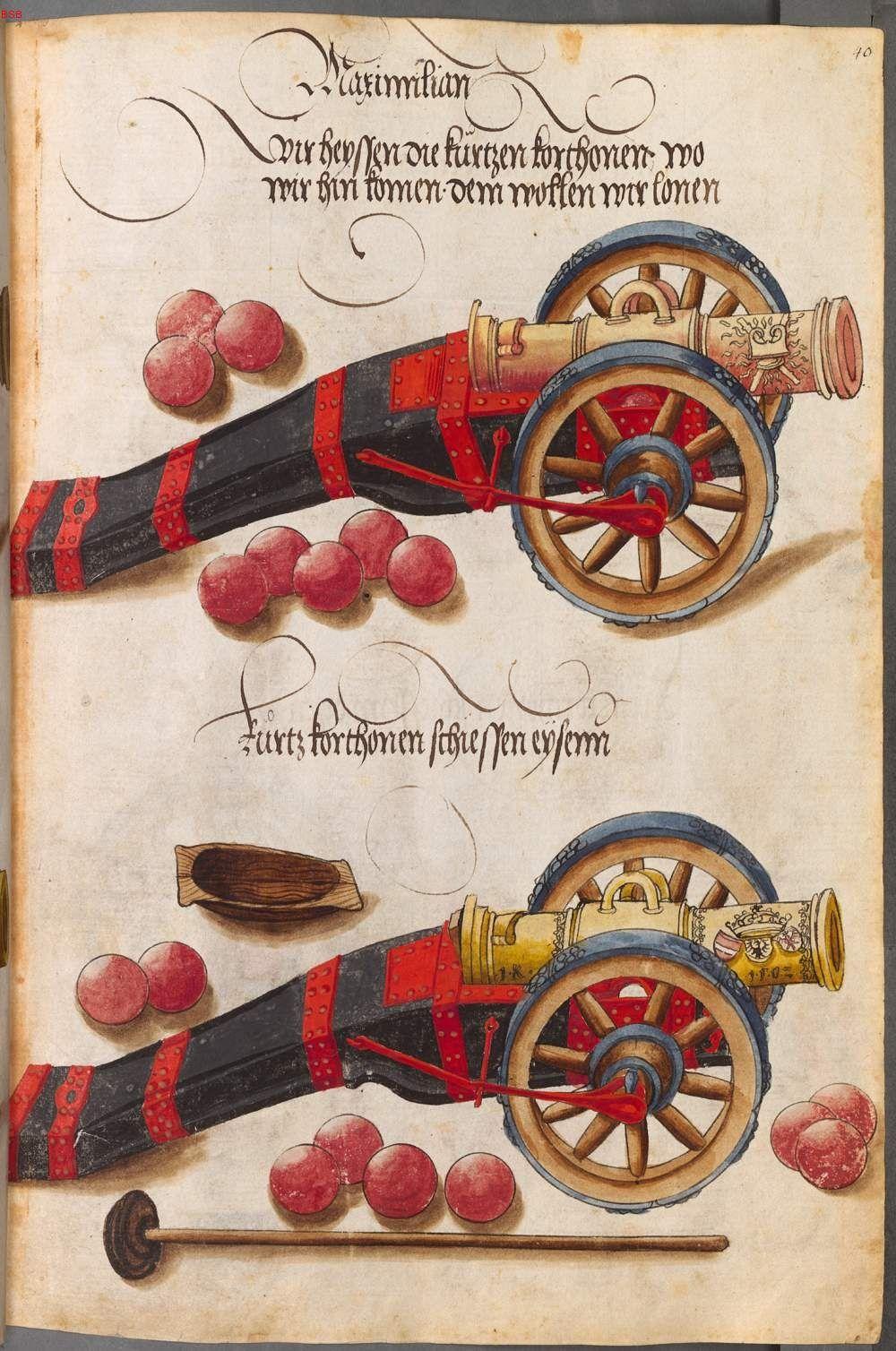 Title: Zeugbuch Kaiser Maximilians I, Monogramm I K, Date: 1502