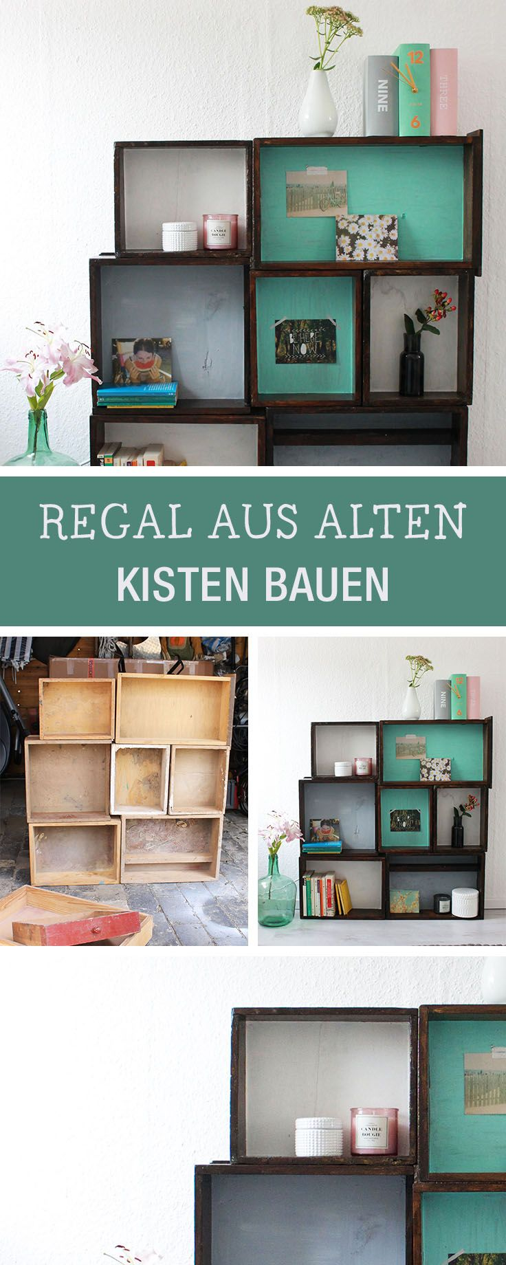 möbel selberbauen: regal aus kisten bauen / diy furniture: how to