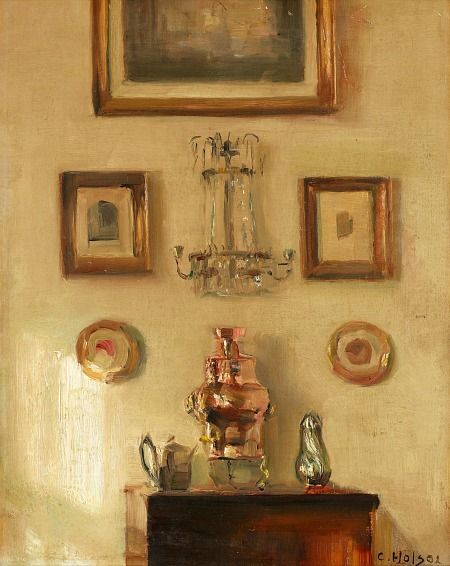 CARL HOLSOE Interior with Samovar (late 19th-early 20th century)