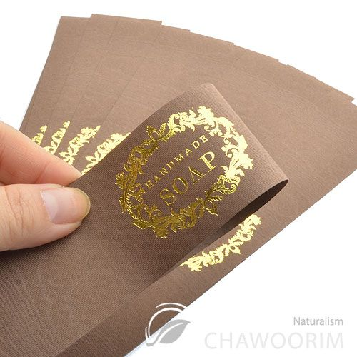 Details about 20sheet Luxury Gold Label For Handmade Soap ...