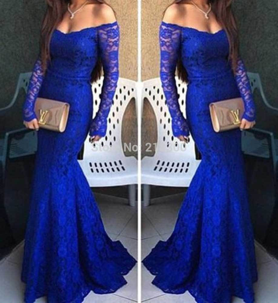 Click to buy ucuc modest black mermaid prom dresses long sleeves boat
