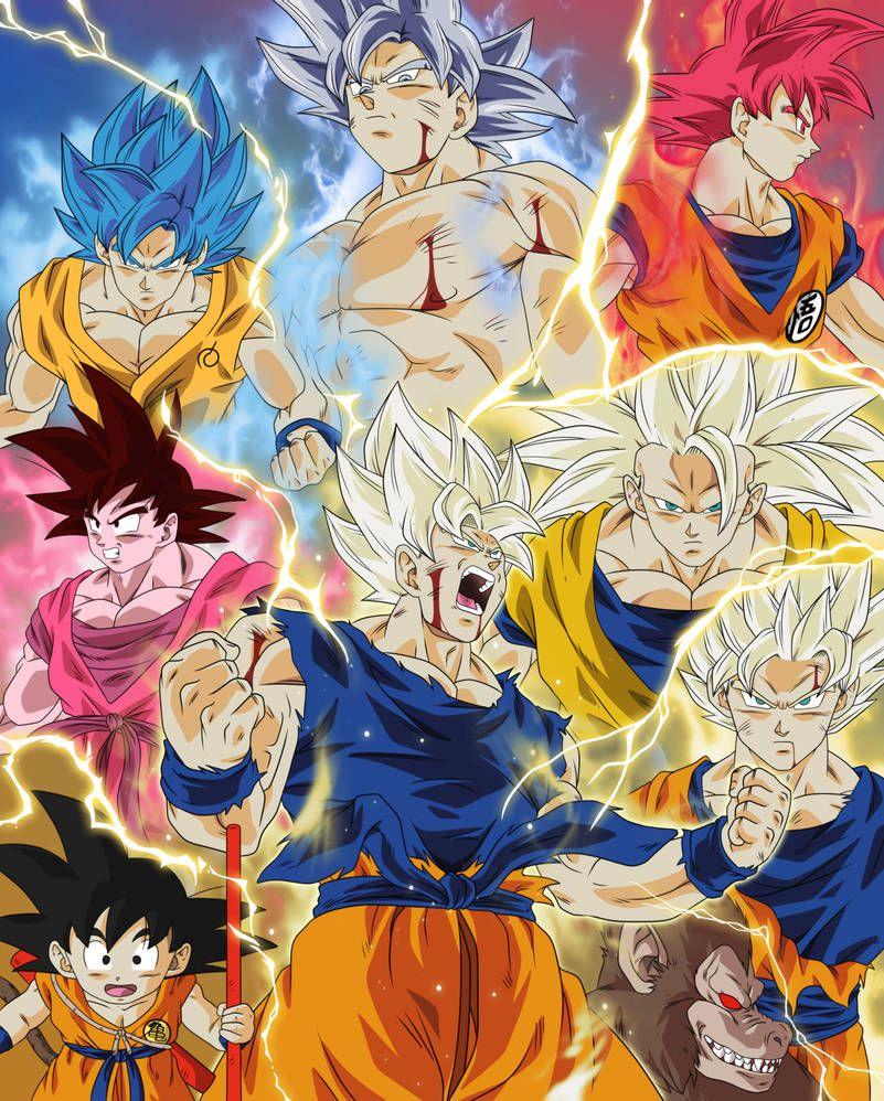 Goku Transformaciones By Bardocksonic On Deviantart In 2021 Anime Dragon Ball Super Dragon Ball Art Goku Dragon Ball Artwork