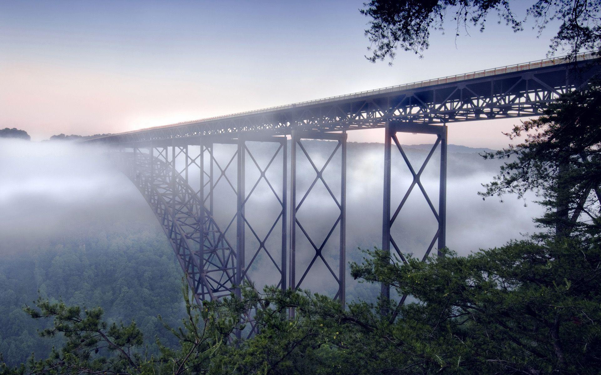 #landscape+bridge,+#New+river+gorge+bridge,+#the+fog