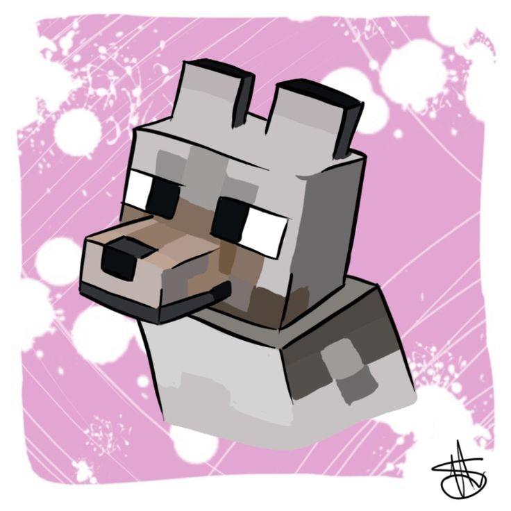 Minecraft Wolf Wallpaper Minecraft Wolf Art And Crafts