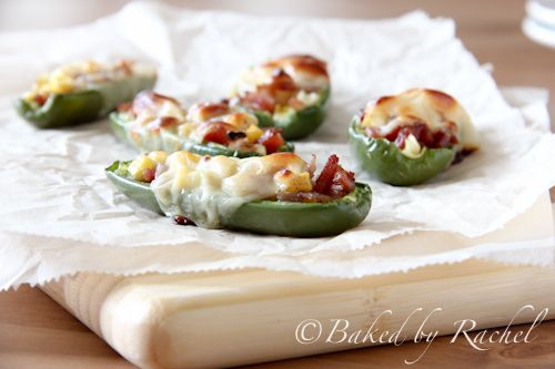 Stuffed jalapeño with Gorgonzola and bacon