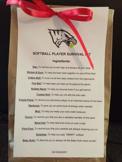 Softball survival kit #teammoms do as volleyball with a ...
