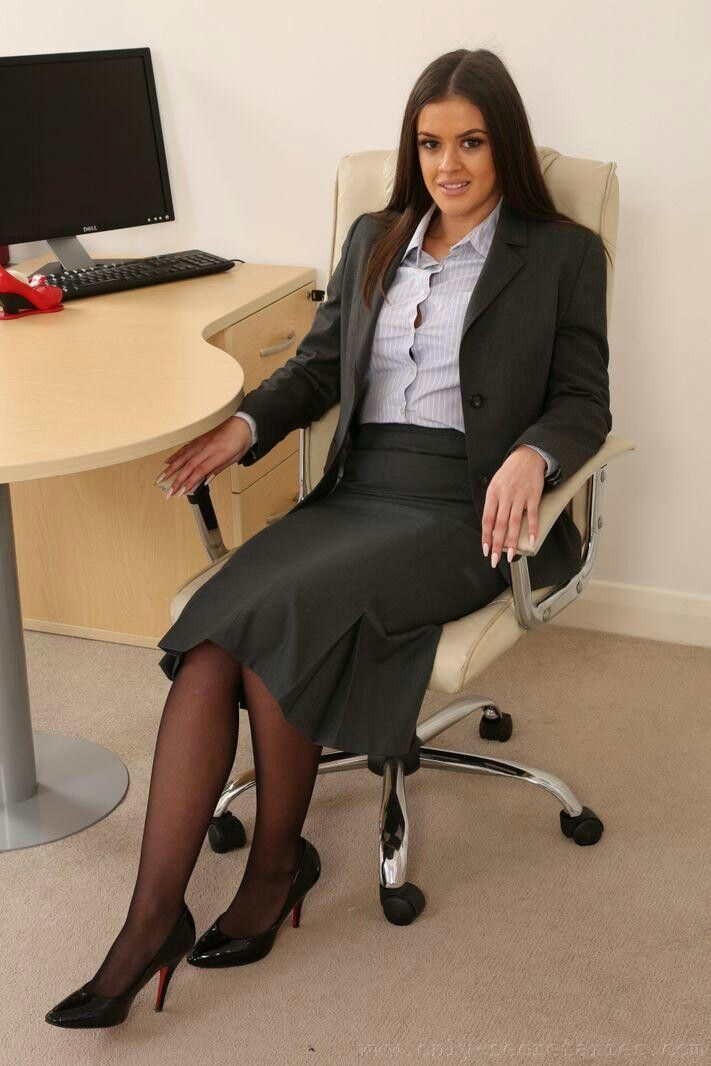 Black Suit Secretary Ready To Provide Special Service To