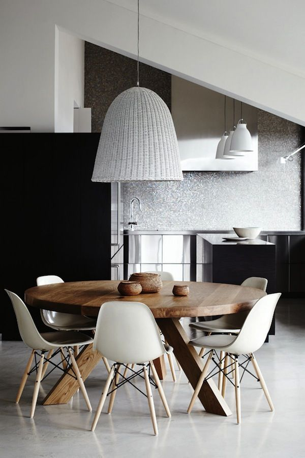 Melbourne Apartment Dining Room Round Dining Table Modern