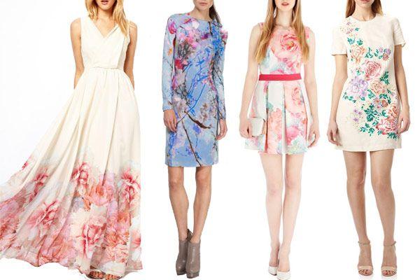 Flower Power Floral Wedding Guest Dresses Summer Weddings - Pastel Dresses For Wedding Guests