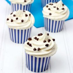 Happiness is a chocolate chip cupcake. Don't you agree?