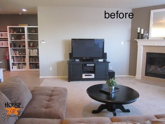 Mounting Your Tv To The Wall And Hiding The Cords Wall Mounted Tv Livingroom Layout Tv Wall