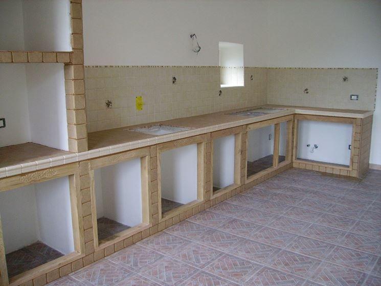 cucina in muratura rivestita ceramica. cucina muratura ...