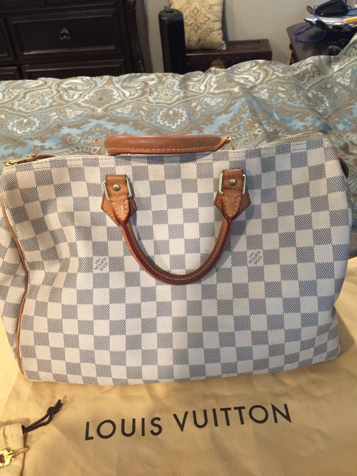 998ca0aaff066 Authentic Louis Vuitton Damier Azur Speedy 35  675.0
