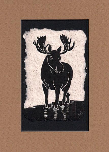 Moose - block print - Karen Beason, Alaska