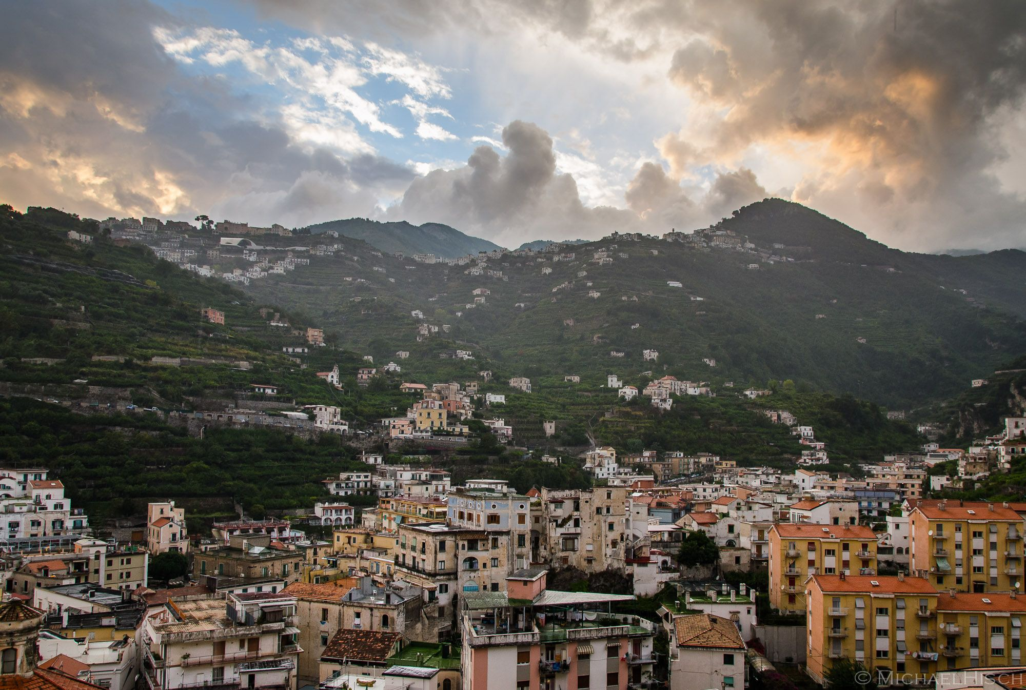 """""""Rooftops"""" is an ongoing project, a collection of views on the """"highest levels"""" of buildings. Updated with recently added photos. See the post on my website (linked below) and image gallery  #rooftops #landscape #amalficoast #Minori"""