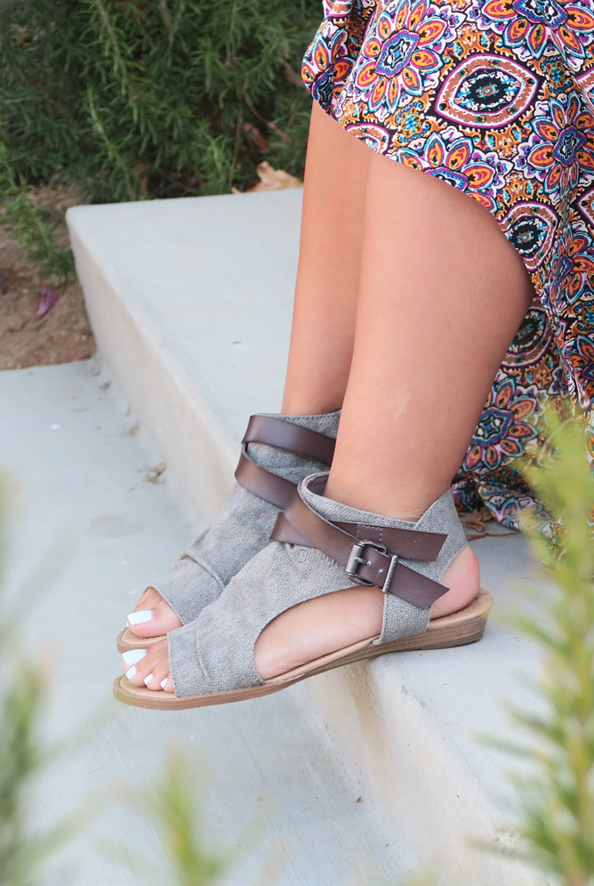 8e665313cf41 Blowfish Shoes sandal Balla in grey is the perfect shoe for spring and  summer