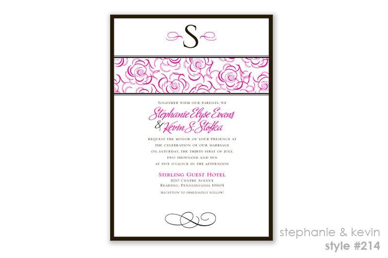Semi-Custom Invitations - Peacock Design & Paperie, LLC Wedding Invitations Reading, PA