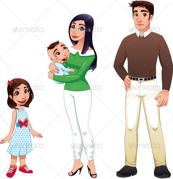 Human Family With Mother Father And Children Human Logo Men And Babies Human