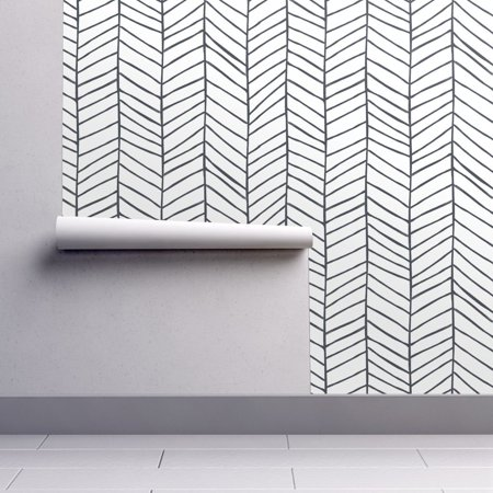 Peel And Stick Removable Wallpaper Herringbone Black And White Herringbone Walmart Com Herringbone Wallpaper Removable Wallpaper Adhesive Wallpaper