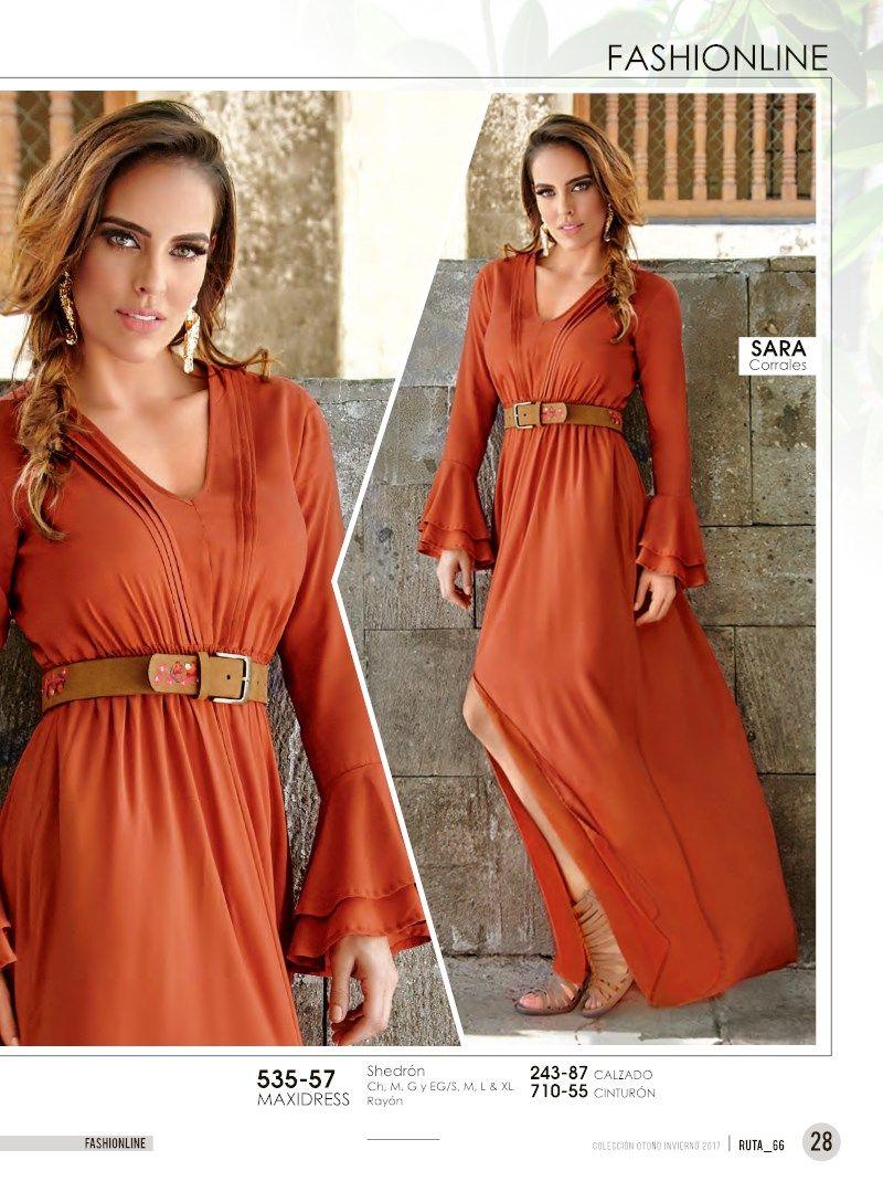 e8b681ab3 Elegante Maxidress para Damas color Shedrón. Look juvenil de Sara Corrales  estrella cklass