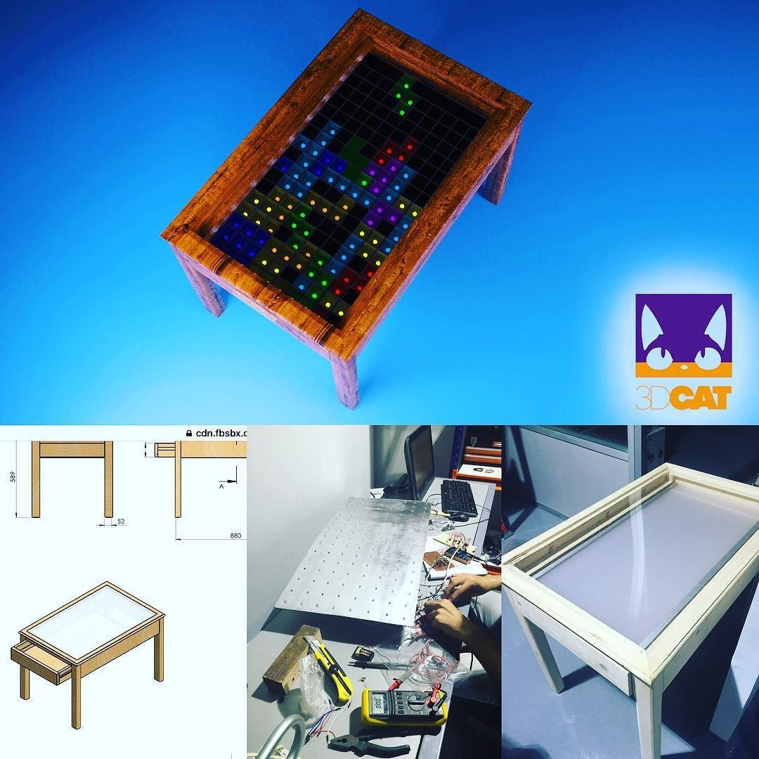 3d Render And Conception Of Interactive Ikea Style Led Table Based