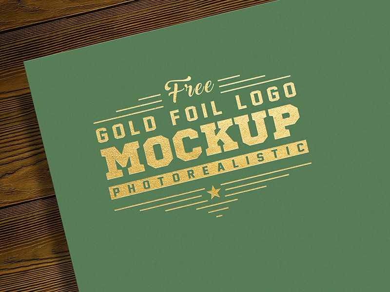 Free Gold Foil Logo Mockup Psd Logo Mockup Logo Mockups Psd Gold Foil Logo