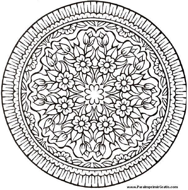 Mandalas de Flores - Para Imprimir Gratis - ParaImprimirGratis ...