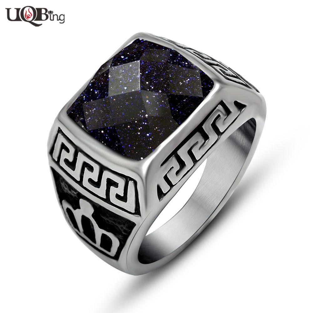 Fashion Luxury Blue Sand Stone Wedding Jewelry Rings Wholesale ...