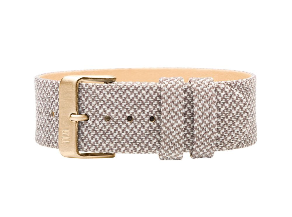 Mill Twain Wristband / Gold Buckle