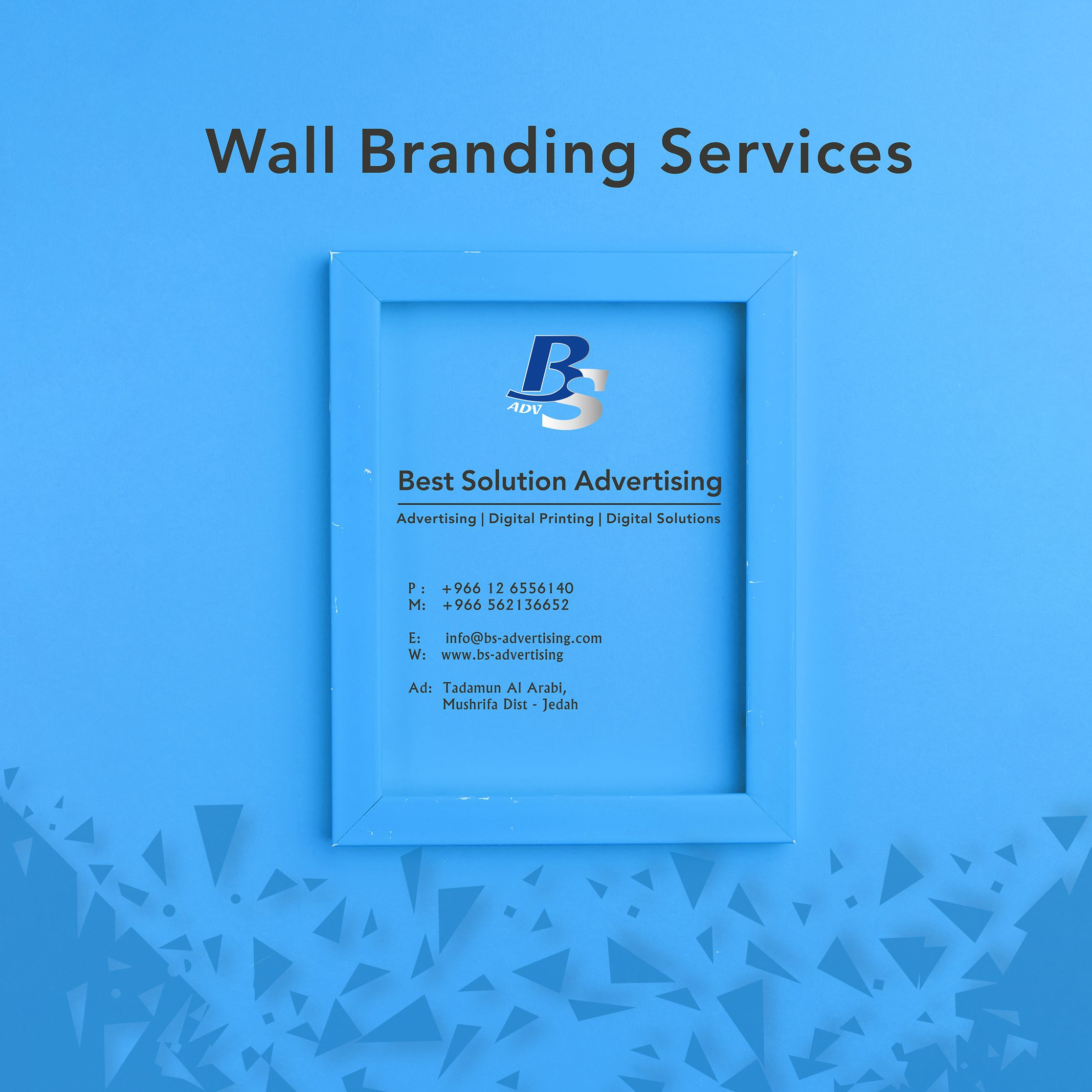 Wall Branding Services In Jeddah Advertising Services Branding Services Advertising Agency