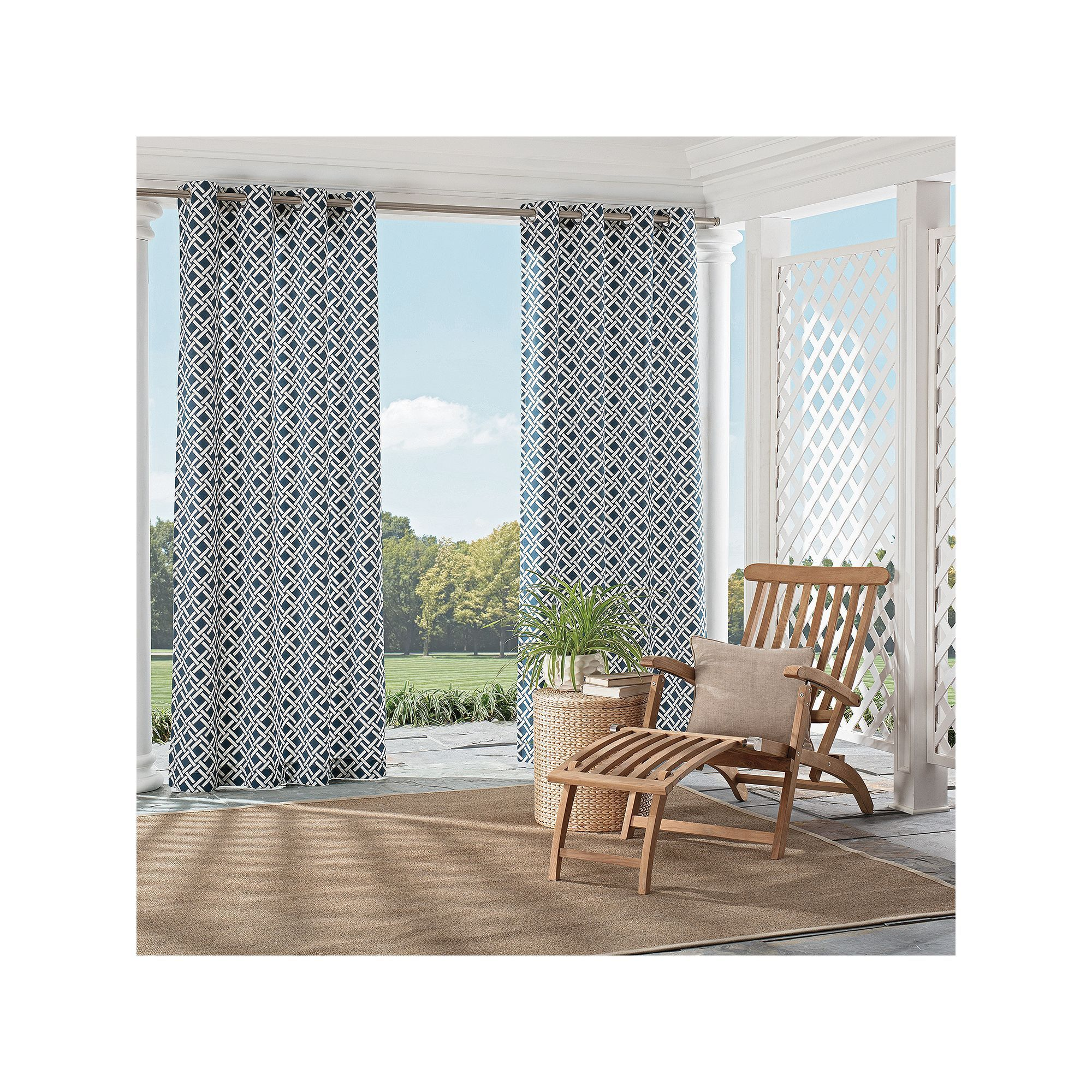 Parasol st kitts indoor outdoor curtain blue blue products and