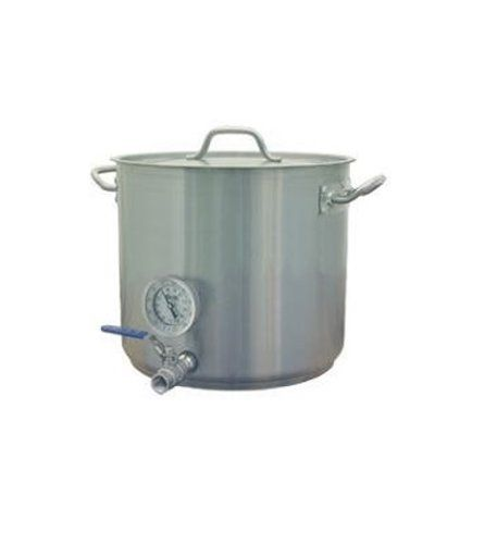 8 Gal Heavy Duty Beer Brewing Kettle W Valve Thermometer Bargain Home Brew Bargain Home Brew 105 00 Beer Brewing Home Brewing Beer Brewing